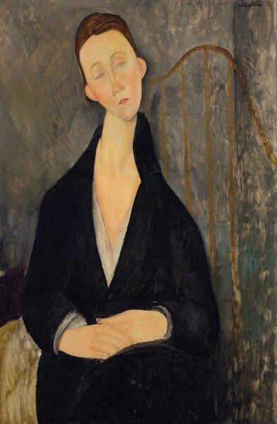 Lunia Czechowska, painted by Amadeo Modigliani from the Drue Heinz collection.