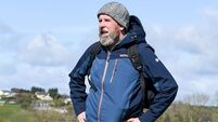 Mountain man: Pat Fitzpatrick puts his new fitness regimen to the test in the Comeraghs
