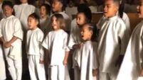 WATCH: North and Saint Kardashian sing 'Nothing Compares 2 U' at Kanye's Sunday Service