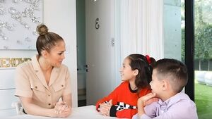 Watch Jennifer Lopez get interviewed by her twins Emme and Max in adorable video