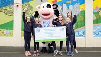 Moo Crew winners give a thumbs-up to dairy
