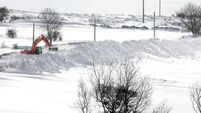 Snow and abandoned cars hampering efforts to restore power in the North