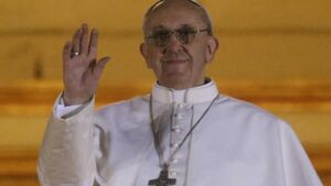 Pope Francis shows humble side on first day