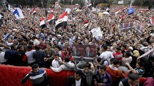 Anti-Morsi protestors set offices on fire