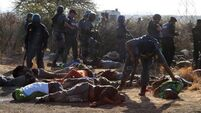 Police 'may have altered scene' at South African mine, lawyer claims