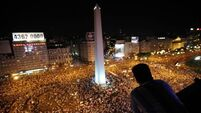 Angry Argentine protesters chant: 'We're not afraid!'