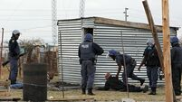 Police fire rubber bullets at South African miners