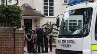 Bomb squad examines home of Alps shooting victims