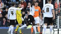 Managerless Blackpool tumble at Derby