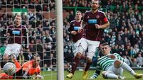 Hooper brace helps Bhoys to win over Hearts