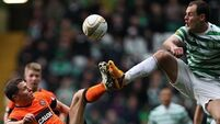 Ledley double seals for Celtic after two Stokes near misses
