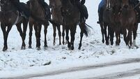 Wintry conditions hit horse racing fixtures in the UK