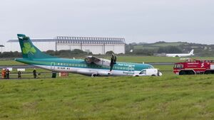 Shannon Airport reopens after plane slips onto grass