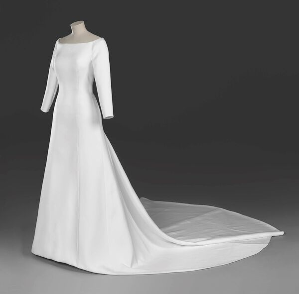 The wedding dress of Meghan Markle, created by the British designer Clare Waight Keller, artistic director at the historic French fashion house Givenchy.