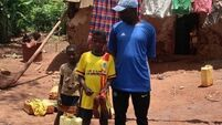 Getting the ball rolling in an impoverished village in Uganda