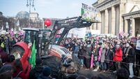Oliver Moore: 'Fed up' farmers on the streets of Berlin
