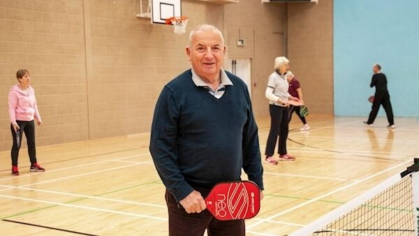 Ray Clarke, a retired grandfather of eight from Multyfarnham, Co Westmeath, says pickleball is fun as well as being good for the body and mind. Picture: Bob Morrison