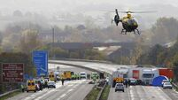 Motorway pile-up linked to fireworks display