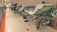Number of patients waiting for hospital beds stays above 550