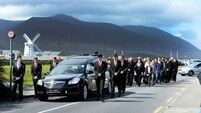 Tears and tributes in warrior's send-off