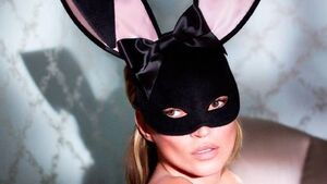 Moss strikes bunny pose for 'Playboy'
