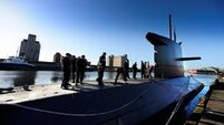 Hi-tech reconnaissance submarine pops up in port for courtesy visit