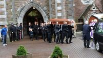 Mourners pay tribute to two political figures