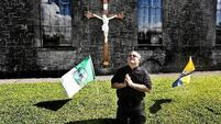Fr Tom flies the banner for Limerick