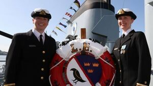 Women make naval history with ship handover