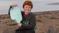 Oisin takes message in a bottle back to Canada