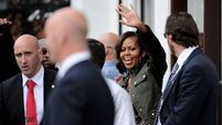 A village affair for rock star and first lady