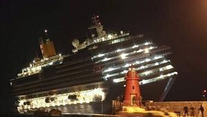 Insurers count cost as Concordia cruise liner to be hauled upright