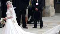 William sees stunning bride Kate