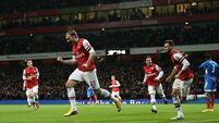 Bendtner Arsenal's unlikely hero