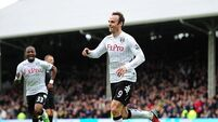 Berbatov looking forway out at Fulham