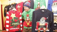 Funky Christmas Jumpers keep celebs warm over festive season