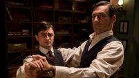 Mad man Hamm talks waltzing with Young Doctor Radcliffe