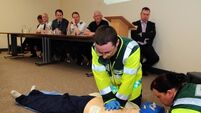Volunteer first responders to aid ambulance service