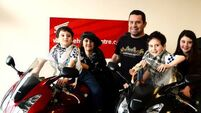 Twins get revved up for charity motorcycle run