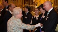 Video: Cork fishmonger reunited with monarch at Irish reception