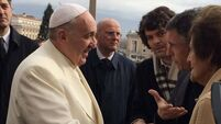 Philomena Lee 'honoured' to meet Pope Francis in Vatican