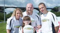 Soccer legend urges walkers to make their Mark for cancer