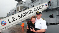 City welcomes state-of-the-art Navy vessel Lé Samuel Beckett