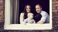 You've been framed:  Prince George poses for family shot