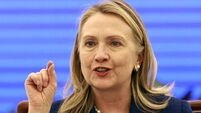 Clinton angrily defends same-sex marriage stance