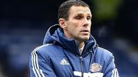 Poyet blasts Potters' pursuit of Sunderland duo