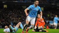 Negredo grabs treble  as Manchester City  hit Hammers for six