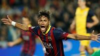 Neymar strikes late for Barca to deny Atletico