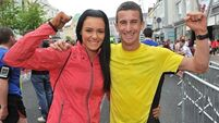 Rob and Marian Heffernan doing the walk of life together