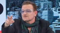 Bono in a 'cycling spill' in New York